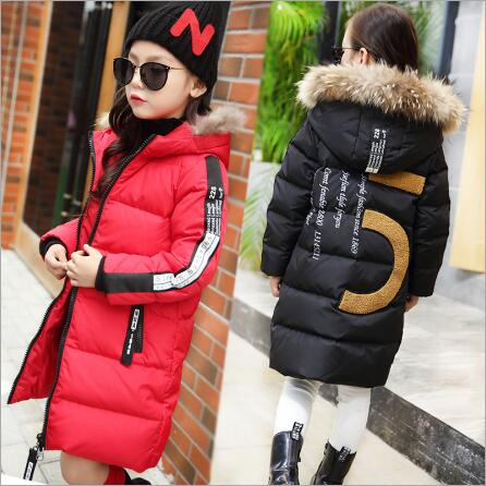GARYDUCK 2017 New Children Thick Cotton Hooded Jacket Brand Kids Pockets Parka Warm Wear Fashion Winter Coats for Girls