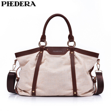 PHEDERA New Arrival Canvas Female Shoulder Bags Casual All Match Women Handbags Polyester Cotton Purse