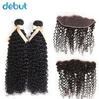 JOEDIR Brazilian Hair Weave bundles Deep Wave Natural Color Cheap Price Human Hair Bundles With Closure 13*4 Lace closure