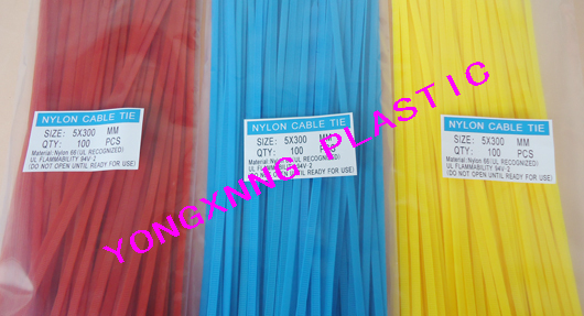ФОТО 400 bag 46X300 nylon66 material self locking colorful cable tie