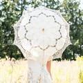Sombrilla de encaje Paraguas de Sol de La Vendimia Hecha A Mano de Estilo Paraguas Nupcial de La Boda Decoración Del Partido Suministros de La Boda Accesorios de La Princesa