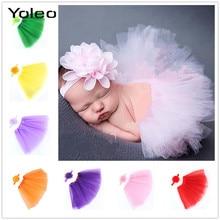 Одежда для новорожденных Одежда для девочек юбка с цветочным рисунком, оголовье, набор Подставки для фотографий модные Юбка-пачка принцессы, комплект одежды для новорожденных