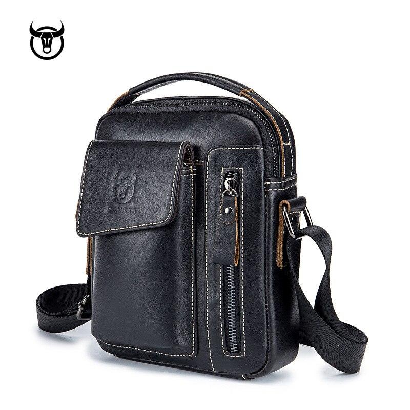 cec558ae466c Купить Натуральная кожа Мужская сумка через плечо Винтаж телячья кожа  человека Курьерские сумки небольшая сумка для мужчин Повседневное сумки Цена  Дешево.