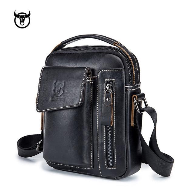 Genuine Vintage Leather Male Casual Handbag 2