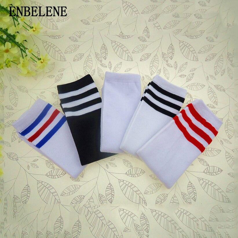 2018 New Arrival Little Children Knee High Socks For Boys Girls Black White Big Kids Striped Cotton Thigh Sock CA002