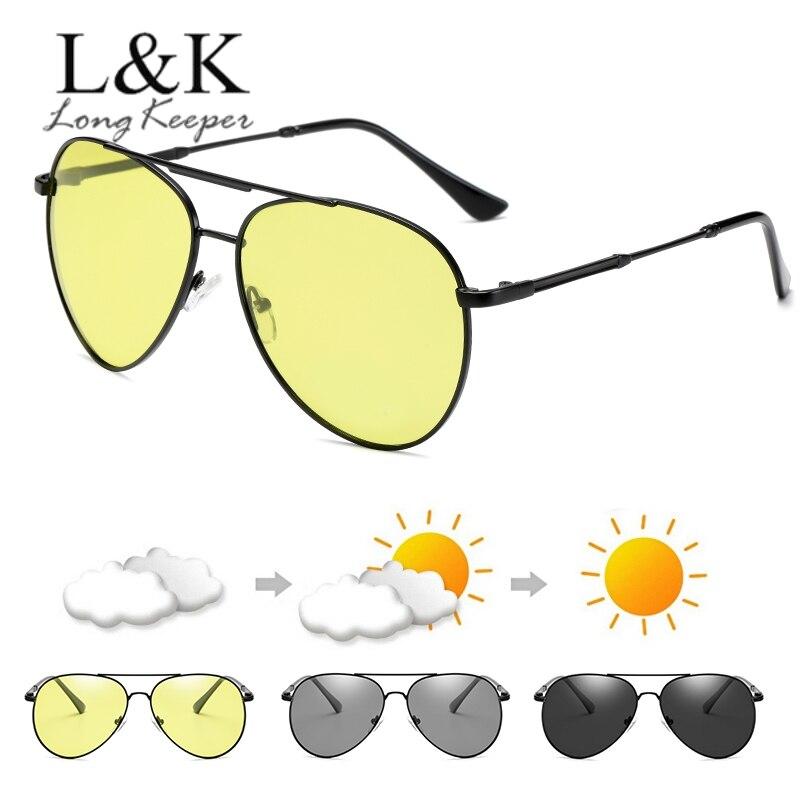 Motivated Oval Men Photochromic Sunglasses Polarized Night Vision Driver Goggles Anti-blue Light Sun Glasses Car Driving Uv400 Eyewear