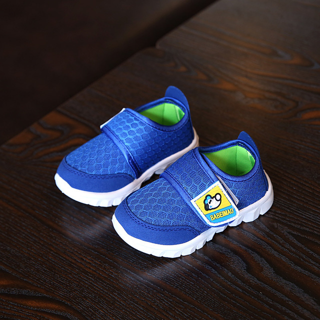 2018 New children breathable net shoes comfortable soft student sport shoes for Kids running shoes boys girls sneakers blue pink 3
