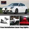 Free Installation For Alfa Romeo Giulietta 940 / Newest Solar Energy Shark Fin Laser Fog Light / Multiple Mode Warning Lamp