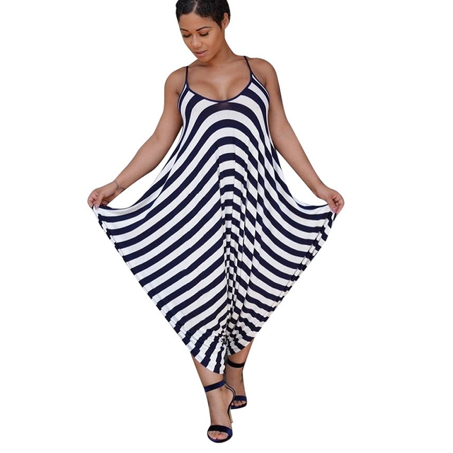 db76443a6420 Striped Print Harem Jumpsuit Backless Overalls Leotard Sexy One Piece  Jumpsuit And Romper Wide Leg Bodysuit Club Wear Summer