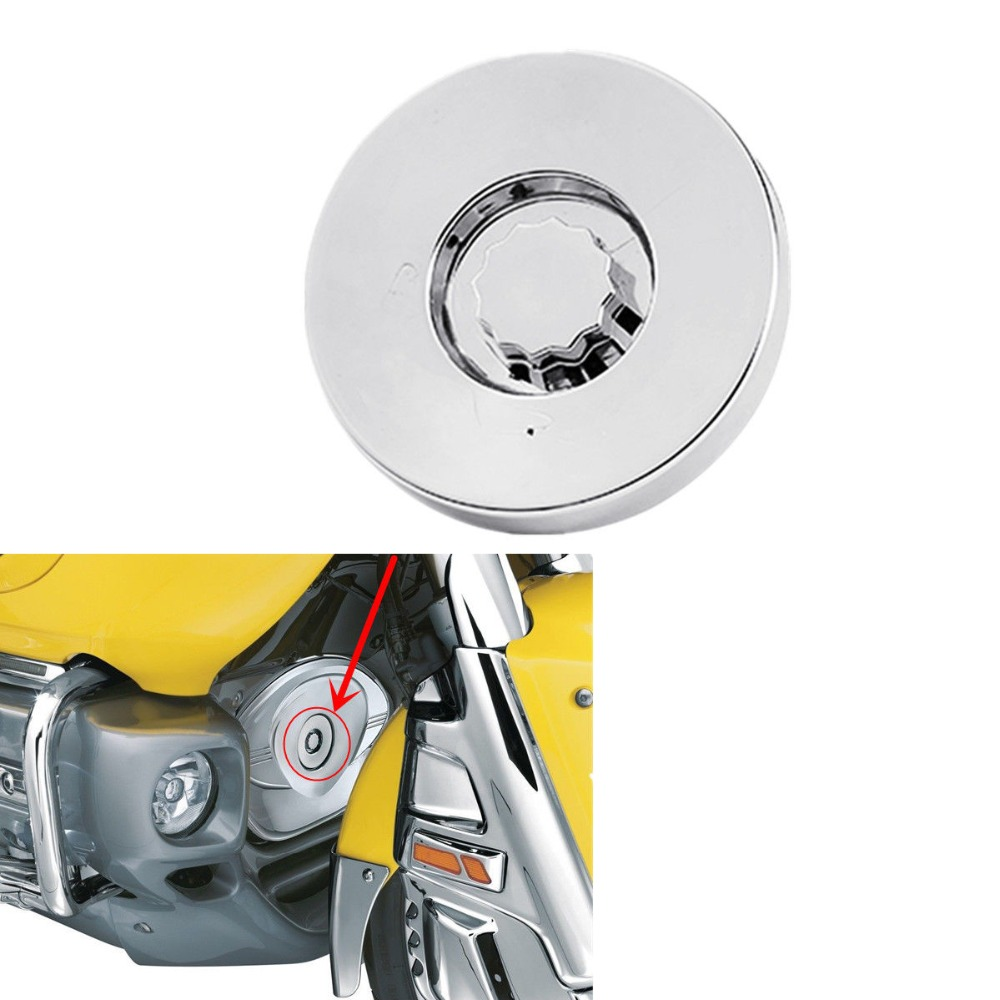 Motorcycle Chrome Timing Hole Cap Cover For Honda Goldwing GL1800 2001 UP 2013 2009