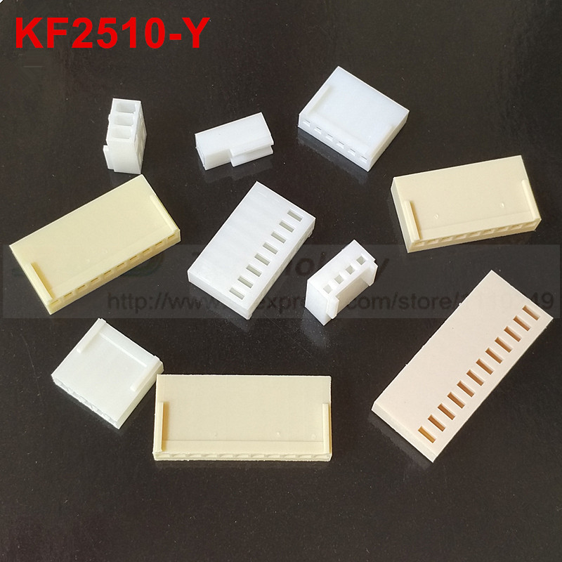 50pcs/lot KF2510 KF2510-2-12Y 2510 connectors 2.54 mm Female connector housing 2.54mm 2,3,4,5,6,8,10-12pin free shipping [vk] 553602 1 50 pin champ latch plug screw connectors