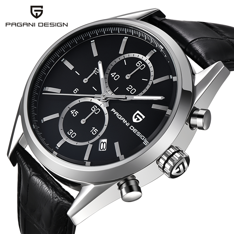 Reloj Hombre Top Brand Luxury Pagani Dive 30m Casual Quartz Watches  Men Leather & Stainless Steel Sport Watch relogio masculino reloj hombre pagani design sport leather strap watches men top brand luxury multifunction quartz watches clock relogio masculino