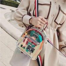 Fashionable Transparent Shape Backpacks Harajuku School Backpack Shoulder Bags For Teenage Girls Book Bag Sweet Cute Girl Gift fengdong brand backpack for girls school bags female cute cat back bag backpacks for teenage girls new year girl christmas gift