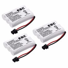3pcs EBL 3.6v Replacement Ni-MH Phone Battery for Uniden Cordless Phone BT446 BP-446 DCT746M DCT746 Batteries Free Shipping(China)