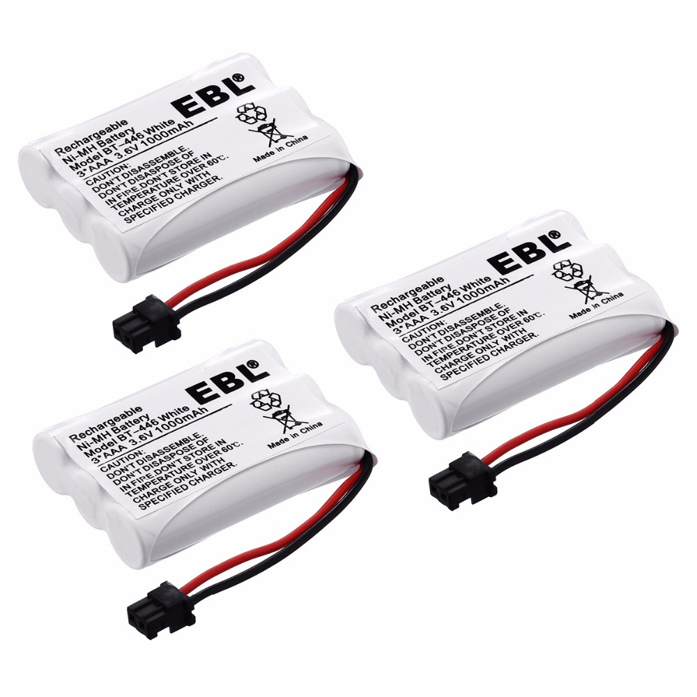 3pcs EBL 3.6v Replacement Ni-MH Phone Battery for Uniden Cordless Phone BT446 BP-446 DCT746M DCT746 Batteries Free Shipping