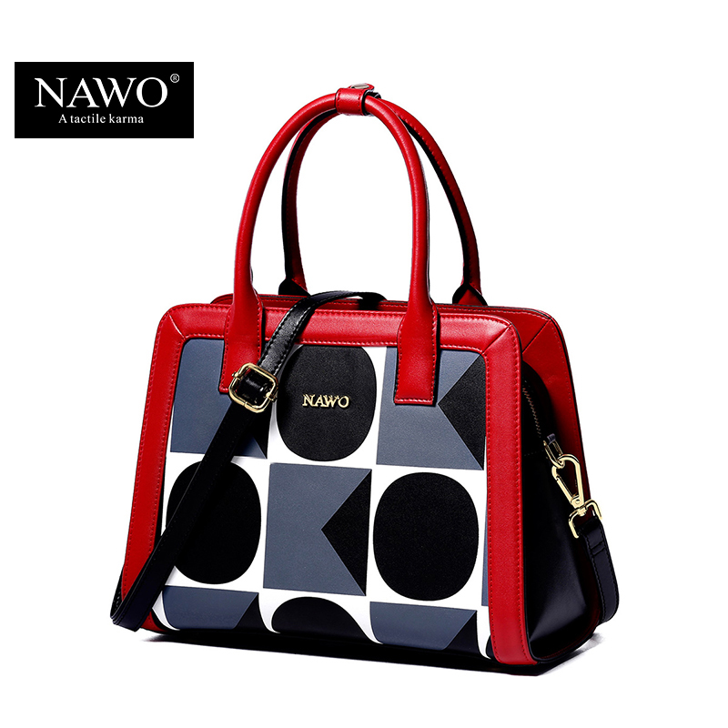 NAWO Geometric Women Shoulder Crossbody Bag Famous Brand Women Handbags Leather