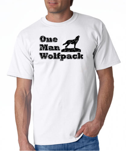Summer Sleeves Fashiont O-Neck Short Sleeve  One Man Wolfpack Premium Mens Tee Shirts