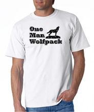 Summer Sleeves Fashiont O-Neck Short Sleeve  One Man Wolfpack Premium Mens Tee Shirts