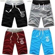 2015 men's shorts beach Gym Bermuda Masculina Cotton Sport Running Surf Beach Basketball Shorts Men's clothing short trousers 2015 masculina