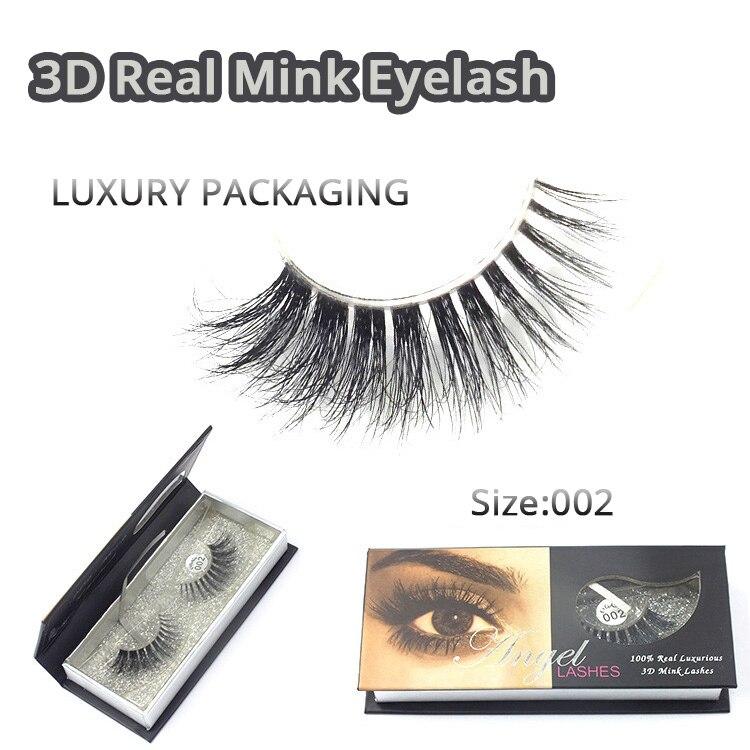 Gratis frakt M002 1pcs / lot 100% Real Siberian 3D Mink Full Strip - Smink
