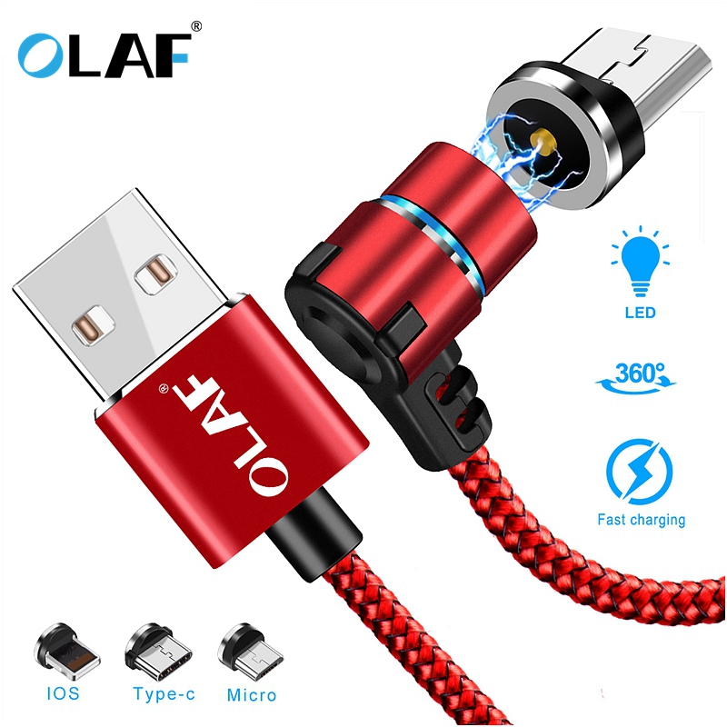Uslion 90 Degree Led Cable For Samsung S8 Xiaomi Huawei Micro Usb Cable & Usb Type-c Usb C Cable L-line Magnetic Charging Cable Orders Are Welcome. Cellphones & Telecommunications