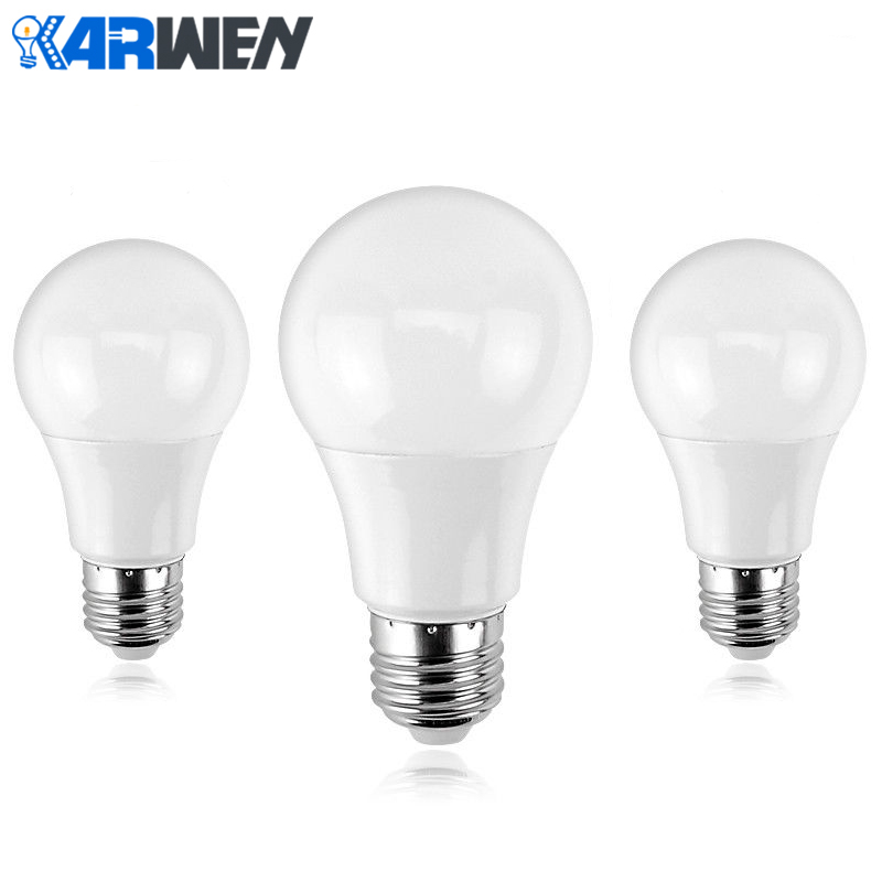 KARWEN Lampada LED lamp E27 Bombillas LED Bulb 3W 5W 7W 9W 12W 15W 18W Cold/Warm White AC 220V 240V SMD2835 Spotlight Ampoule LED Bulbs & Tubes     - title=