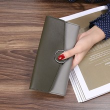 Long Leather Women's Wallet For Coins Cute Purse Clutch