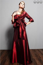 free shipping hot new design maxi taffeta 2014 formal evening vestidos formales long Mother of the Bride Dresses with jacket