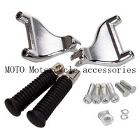 New Motorcycle Rear Passenger Foot Pedal Mounts Foot Peg For Harley 883 1200 XL Sportster 2004