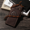 Top Quality Hot Sale Cattle Male Organizal Vintage Bifold Genuine leather Credit Card Cash Coin Holder Checkbook Wallet Purse