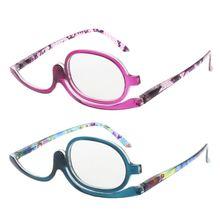 Mulheres Óculos De Leitura Maquiagem Flip Rotativo Compo o Olho Óculos Para  Presbiopia + 1.00 A + 4.0 e5c6a18c33