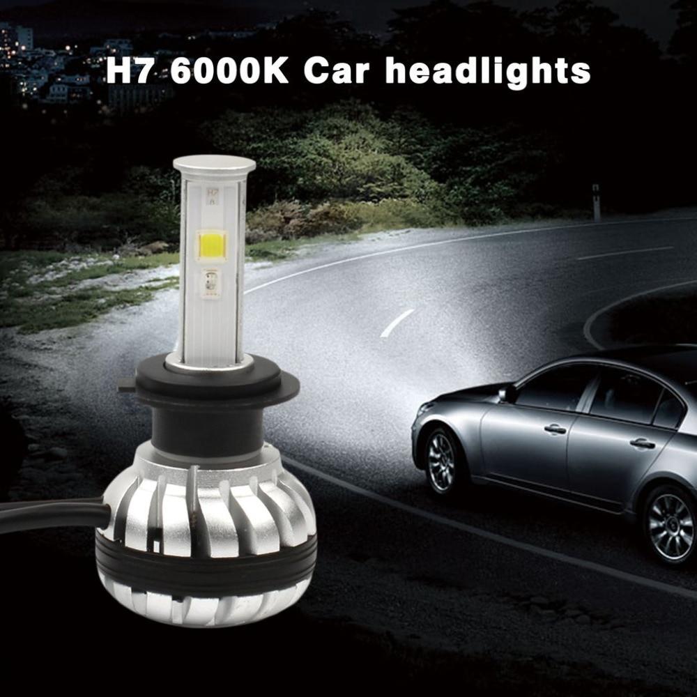Car LED Headlight H7 30W 3000LM High Brightness RGB Car Headlights Bulb 6000K Super Heat Dissipation Car Headlamp Bulbs катушка lucky john anira spin 7 3000 fd