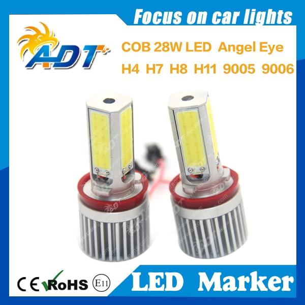 28W Car Angel Eyes Xenon COB LED Headlights LED Markers Xenon White for BMW E87 E82 E90 LCI E91 E92 E93 E60 E61 X1 X5 X6 H8 E92