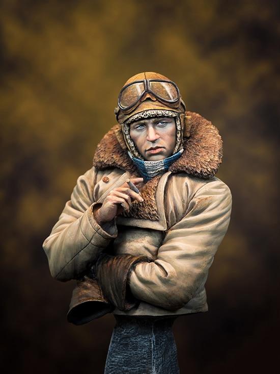 Unpainted Kit 1/10 RFC Pilot in WW1 Civil War bust figure