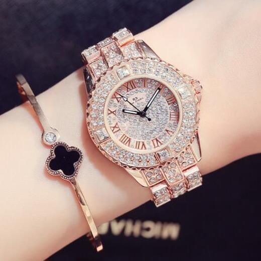 Top Aaa Women Rhinestone Watches Lady Dress Watch Diamond Luxury Fashion Bracelet Wrisch Crystal Quartz Clock