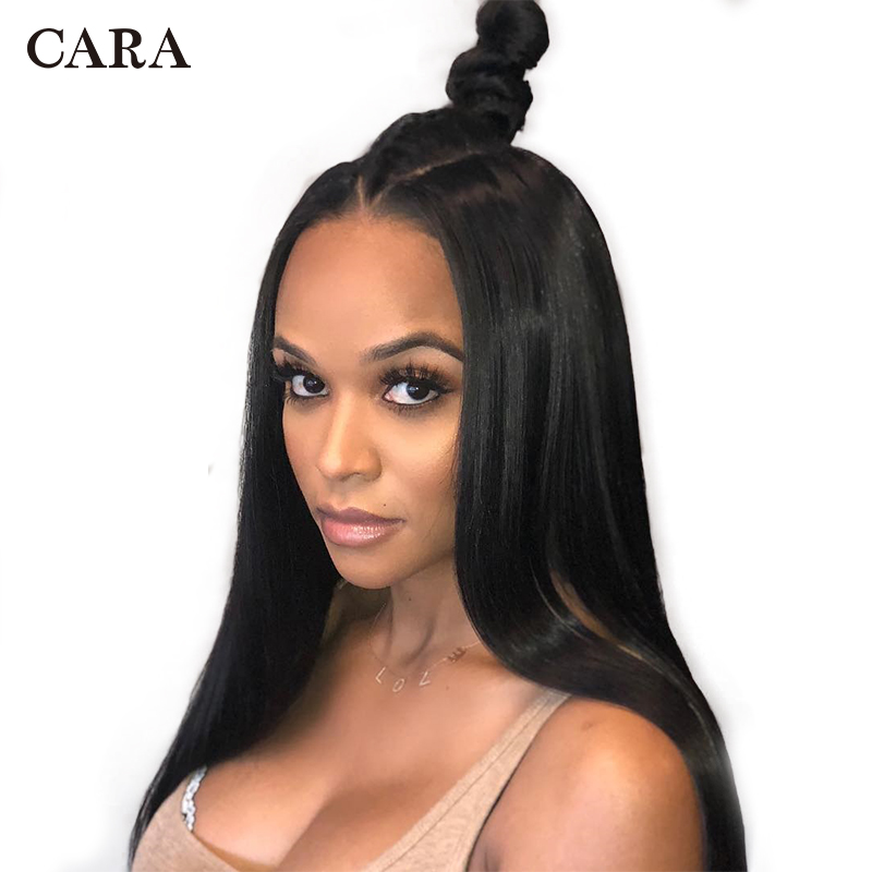 13x6 inch 250 Density Lace Front Human Hair Wigs Pre Plucked For Women Brazilian Straight Lace Wig Human Remy Hair Wigs CARA