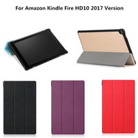 For Amazon Fire HD 10 HD10 2017 Release Version Magnetic Luxury Business Flip PU Leather Stand