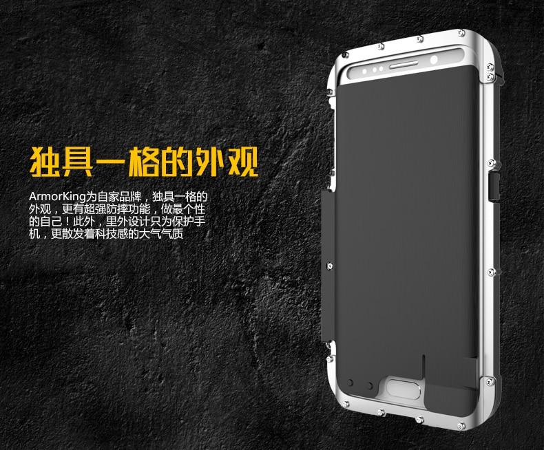 Armure roi fer homme acier inoxydable béquille Anti-coup Flip étui pour samsung Galaxy S6 Edge Plus antichoc Sport couverture - 6