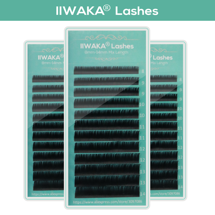 Makeup Lashes 12 Lines 8 14 Mix tray Individual Eyelash Extension Faux Mink Eye Lash