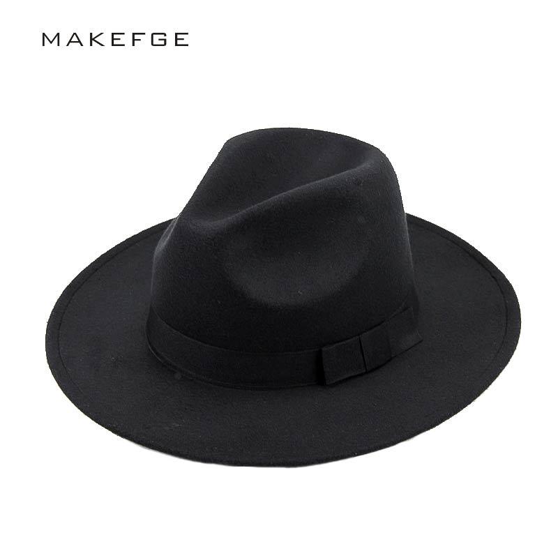 Lãs dos homens Sentiu chapéu da máfia Snap Cap Panamá Fedora Cloche Aba do Chapéu  Chapéu 68aa59f3858