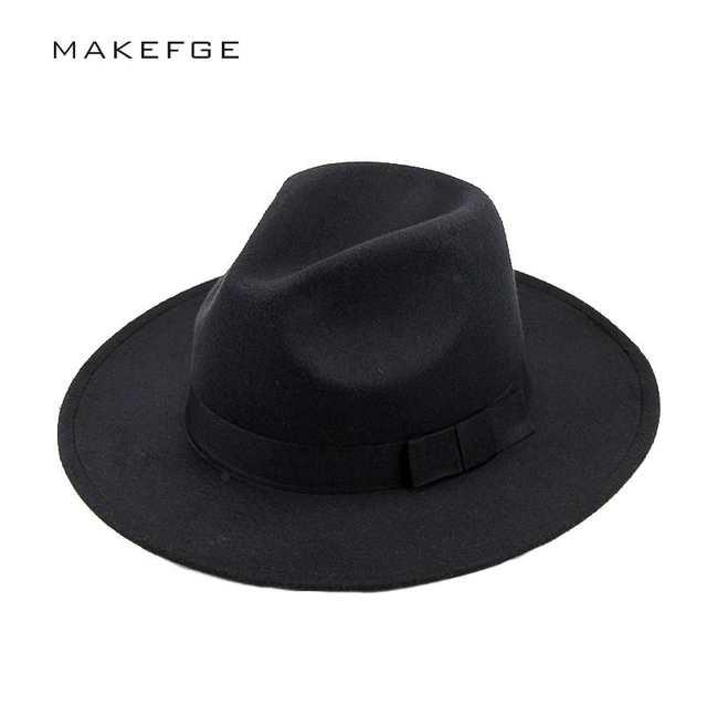 Lãs dos homens Sentiu chapéu da máfia Snap Cap Panamá Fedora Cloche Aba do Chapéu  Chapéu af8c9d82dde