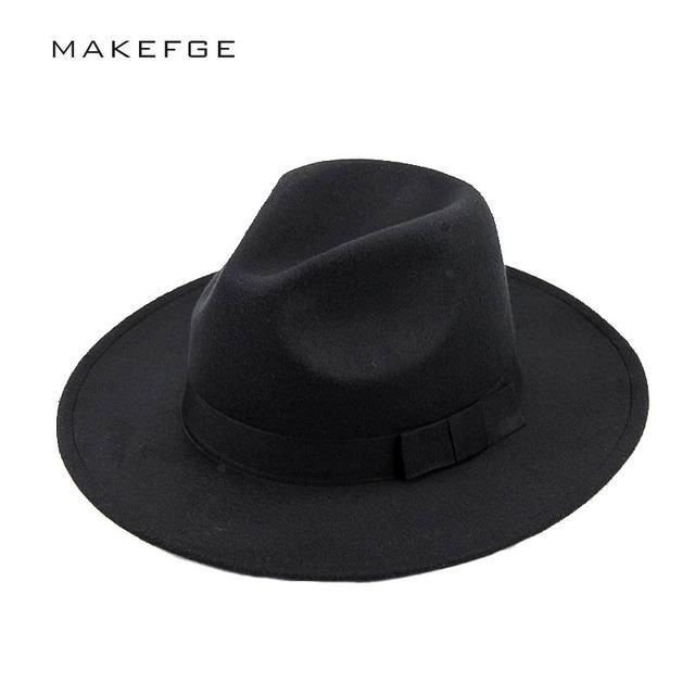 mafia hat Men s Wool Felt Snap Brim Hat Trilby Women Vintage Wool Panama Fedora  Cloche Cap Wool Felt Jazz Hats 56ef2f87342c