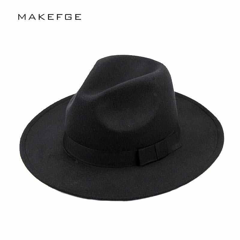 mafia hat Men s Wool Felt Snap Brim Hat Trilby Women Vintage Wool Panama  Fedora Cloche Cap 662e2c1b4966