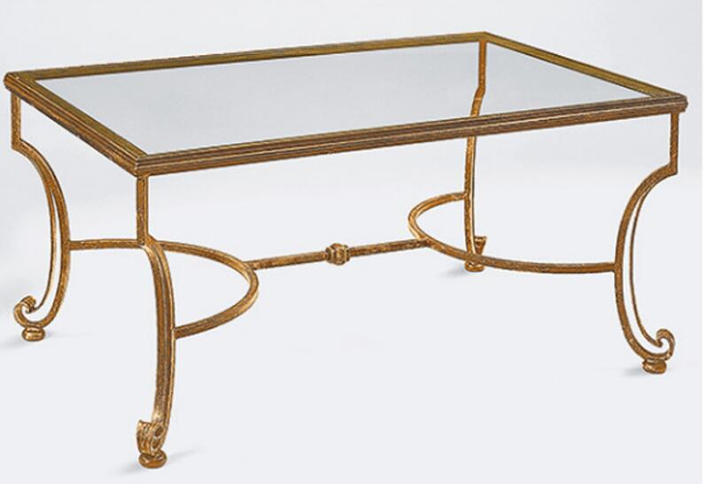 Cool Artistic Personality Wrought Iron Tempered Glass Tea Table The Sitting Room Tea Table Rectangular Coffee Table In Coffee Tables From Furniture On Inzonedesignstudio Interior Chair Design Inzonedesignstudiocom