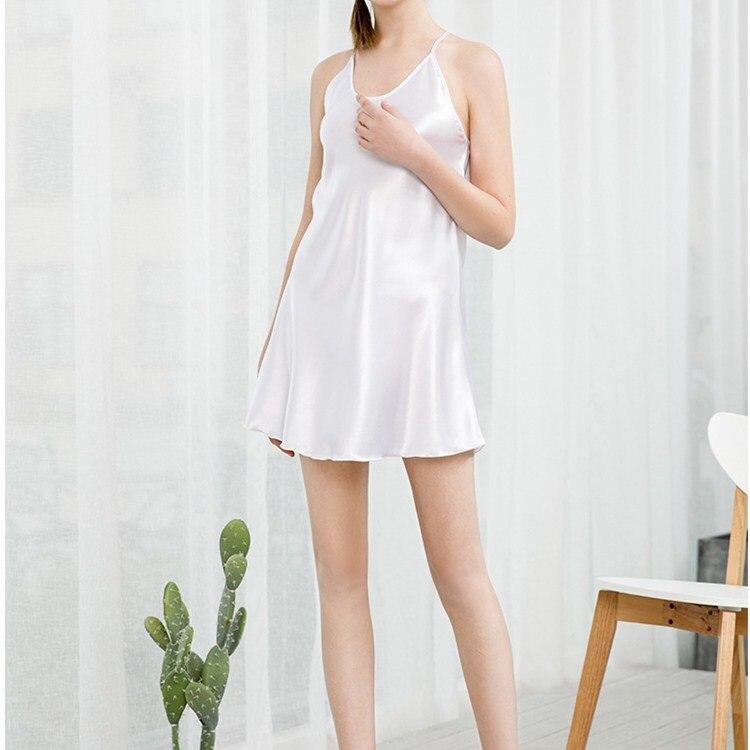 Fashion 2019 New Arrival Women Sleeveless Mini   Nightgowns   Summer Halter Backless Slim   Sleepshirts