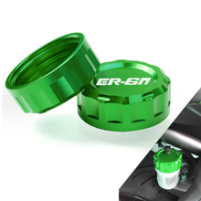 Motorcycle Motorbike Accessories Reservoir Cover CNC Aluminum Rear Brake Fluid Reservoir Cap Cover For Kawasaki ER-6N er-6n ER6N candy fpe502 6n