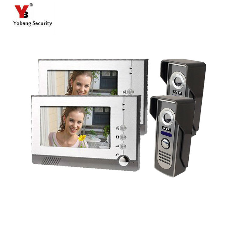 Yobang Security Home Office door intercomHD camera view video doorphone wired colorful and Wired intercom for private house