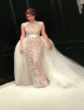 Luxury Beading Wedding Dresses Detachable Train Vestido de noiva Robe De Mariage Custom Made New Arrival Mermaid Wedding Dress