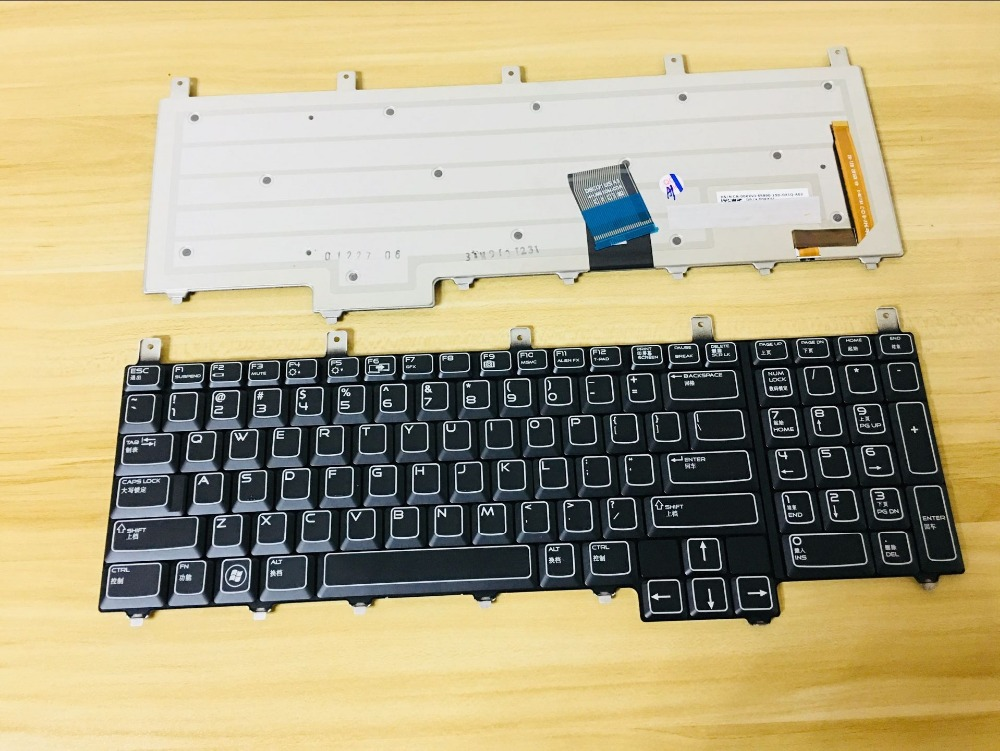 New keyboard for Dell Alienware M17X R1 R2 R3 R4 R5 R6 M18X R1 R2 R3 QWERTY US/GREEK/Deutsch German/JAPANESE BLUE RIBBON цены