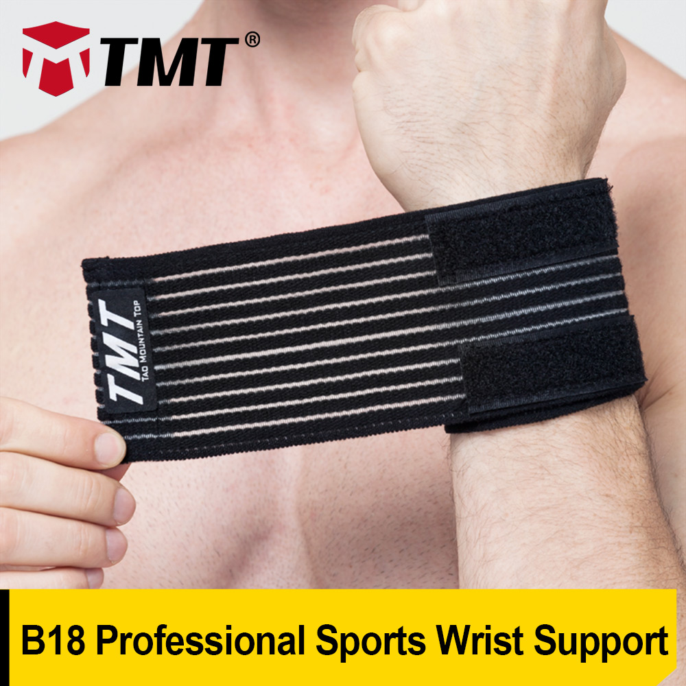TMT Elastic Weaved Adjustable Soft Durable Paste Weight Lifting Powerlifting Sport Safety Wrist Support Brace Fitness Bandage